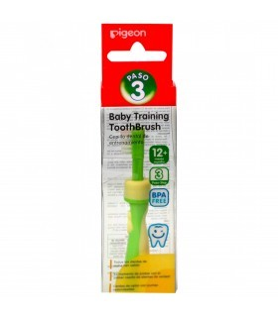 Pigeon Cepillo Dental para Bebé Paso 3 Verde
