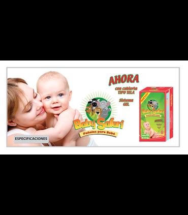 Pañales Desechables Baby Safary6-10KG Economicos 160 pz
