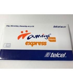Chip Amigo Express Telcel de CDMX Lada 55 Región 9