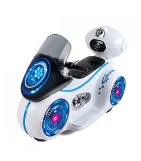 Moto Deportiva Electrica con Sonido y Led para niños