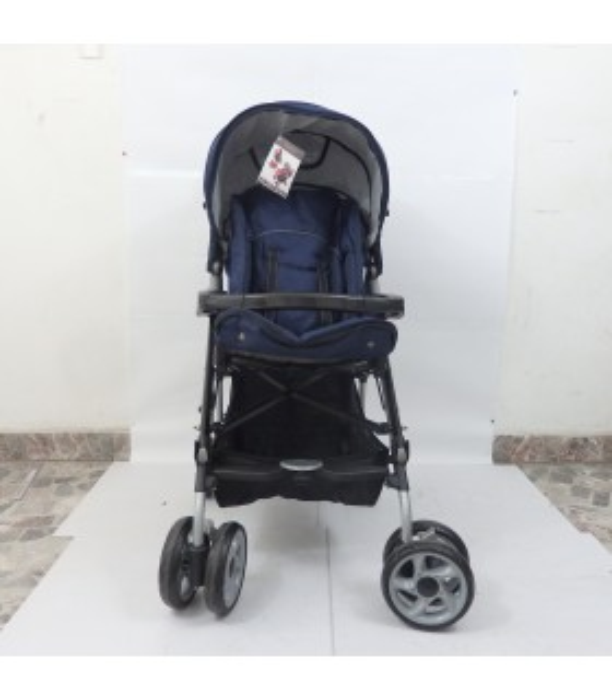 Carreola reclinable +   Bolso Pañalera Moderna + Silla Auto