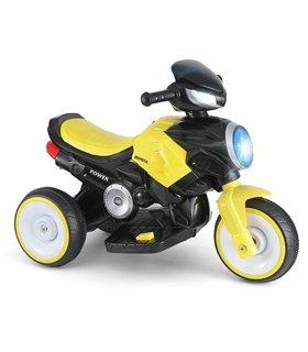 Moto Electrica Infantil Montable LED 6V 3-8 años 3 llantas