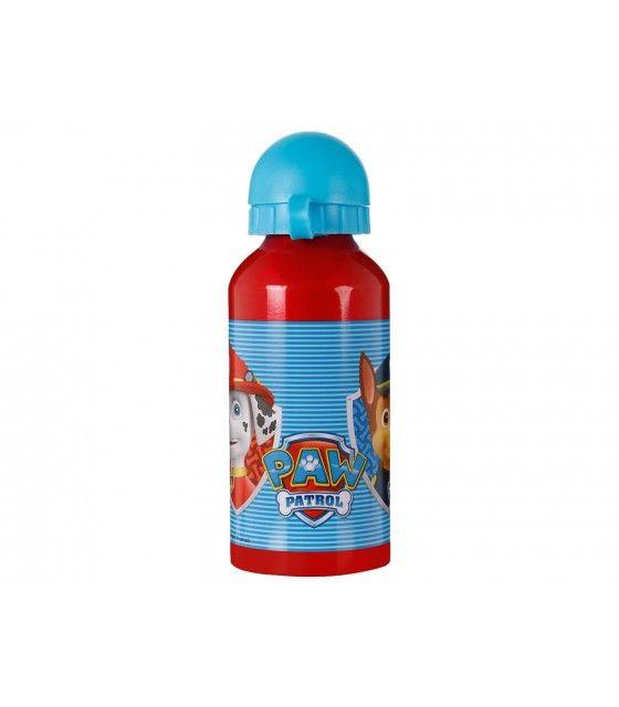 Botella de Aluminio 400ml Paw Patrol con Popote