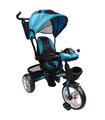 Triciclo para niño y niña con asiento giratorio a 360 Turquesa