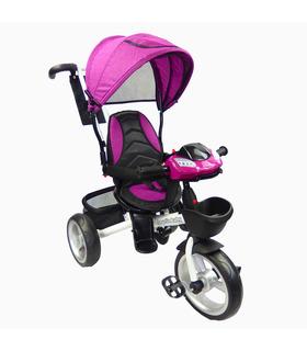 Triciclo para niño y niña con asiento giratorio a 360 Morado