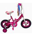 Bicicleta Infantil para niña Rodada 12 con llanta de goma