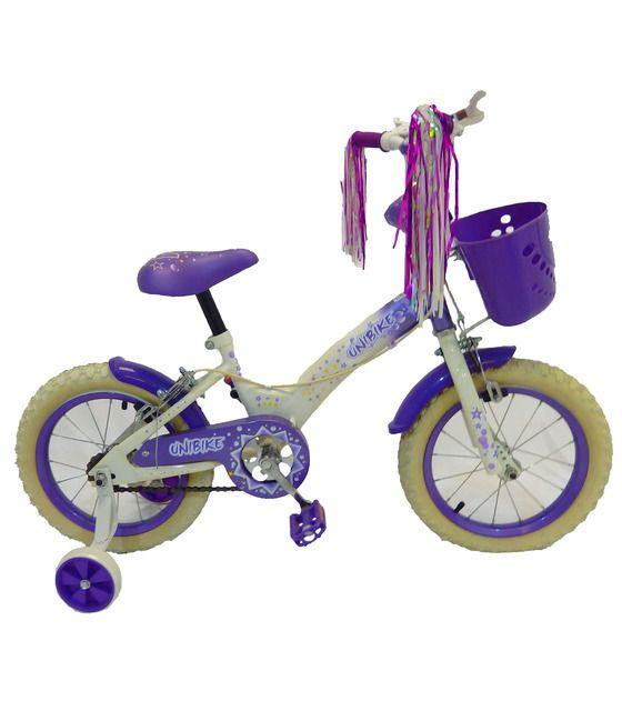 Bicicleta Infantil para niña rodada 14 Banco-Lila