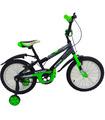 Bicicleta Infantil para niño rodada 16 Negro-Verde