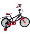 Bicicleta Infantil para niño rodada 16 Negro-Rojo