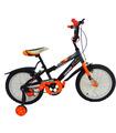 Bicicleta Infantil para niño rodada 16 Negro-Naranja