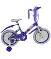 Bicicleta Infantil para niña rodada 16 Blanco-Lila