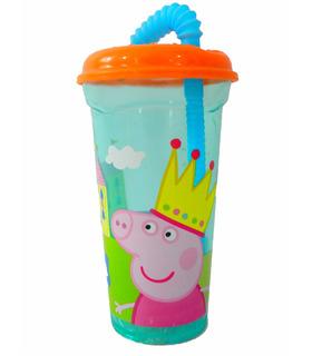 Vaso Popote Flexible Peppa Pig 400 ml