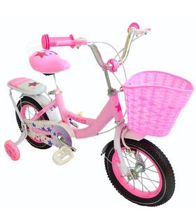 Bicicleta Infantil para niña rodada 12 con llantas de aire y entrandoras