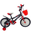 Bicicleta Infantil para niño rodada 14 Negro-Rojo