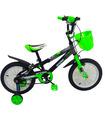 Bicicleta Infantil para niño rodada 14 Negro-Verde