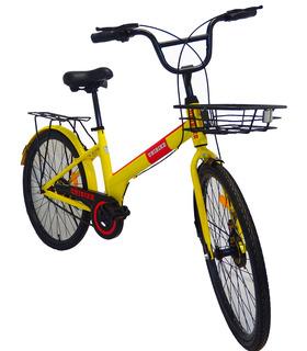 Bicicleta de paseo Rodada 24 Rojo