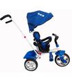 Triciclo para niño evolutivo con bastón dirigible Azul Marino
