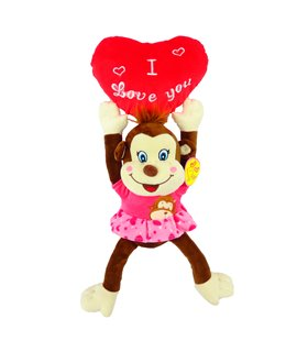 Peluche Chango Grande San Valentín 14 Febrero 43 cm
