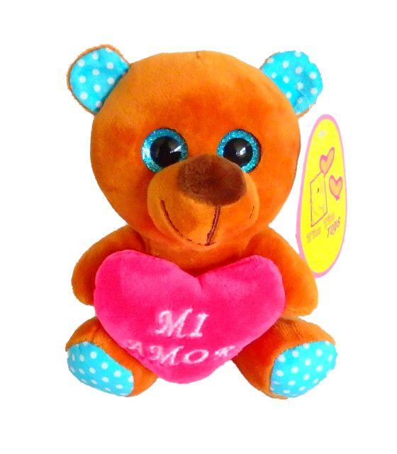 Peluche Perrito San Valentín 14 Febrero 17 cm