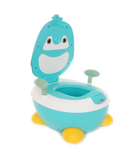Bañito entrenador diseño pinguino con tapa
