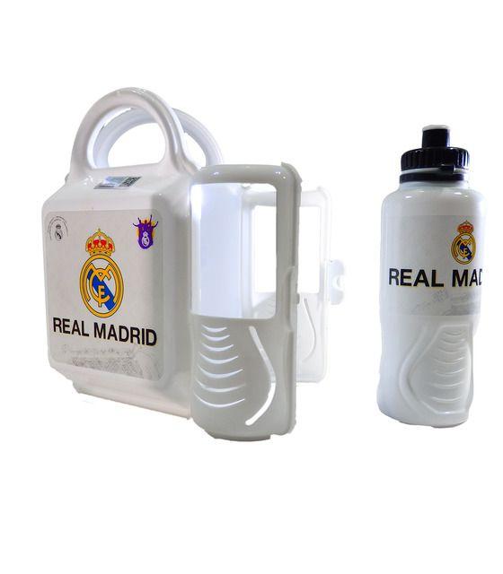 Lonchera con botella 400 ml de Futbol Real Madrid