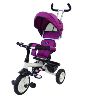 Triciclo para niños evolutivo con dosel plegable Lila