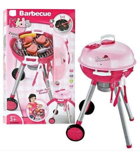 Asador De Juguete Parrilla Barbecue Grill 27 pzs Luces Y Sonidos