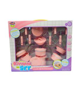 Set de Juguetes de Cocina Infantil baterías y utensilios 24pz