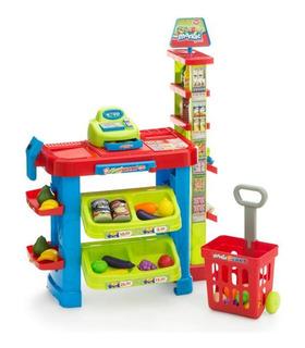 Cocinita Mini Super Infantil con Luz y Sonido 29 pz 80 cm