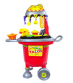 Cocinita Infantil Carrito de Tacos, Juguete para Niños 23 pz