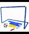 Portería Futbol Infantil Niños 2pzs, Balón, Red, Bomba de Aire
