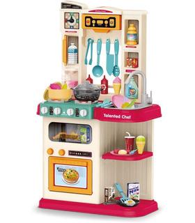 Cocina de Juguete para niños con 65acc,agua,luz,vapor