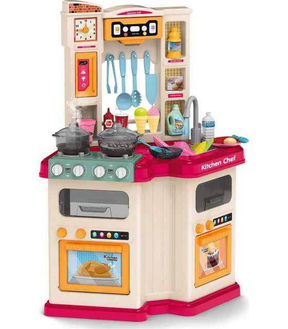 Cocina de Juguete para niños con 67accs,agua,luz,sonido,vapor