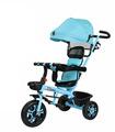 Triciclo para bebés 3en1 Evolutivo,1-6años,Toldo,Canasto,bastón,timbre