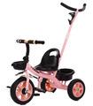 Triciclo para bebé 2 en 1 Niños 2-5años,Bastón Dirigible,2 Canast
