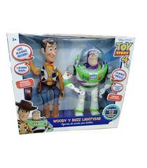 Figura Buzz Y Woody Set Luz Habla Español Toy Story 4