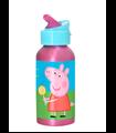 Botella de Aluminio con Boquilla Abatible Peppa Pig 400ml
