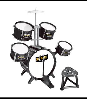 Bateria Musical Infantil, 9 piezas, Jazz Drum,Banquillo,juguete