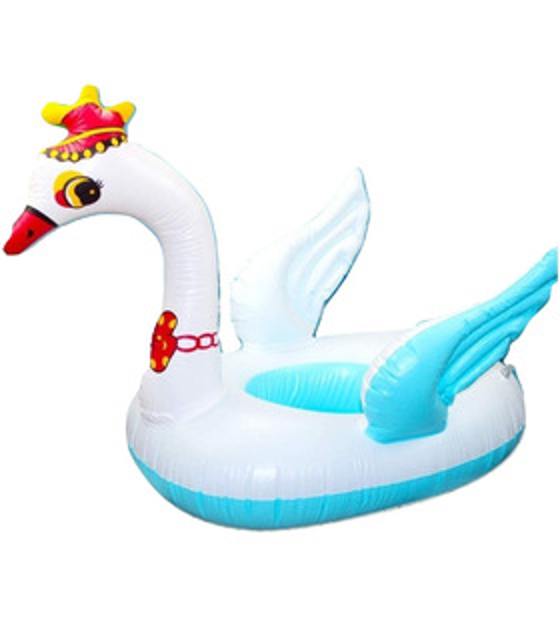Salvavidas Inflable Flotador Cisne Corona 70 cm Alberca Infantil