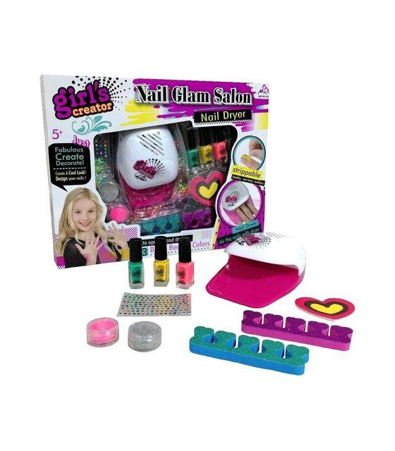 Salón De Belleza Juguete Para Pintar Uñas Esmalte Secador Niñas