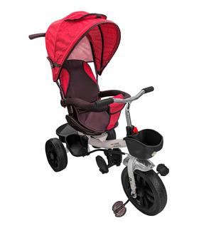 Triciclo de lujo para Bebés 3en1 Evolutivo 1-5 Años Toldo Canasto