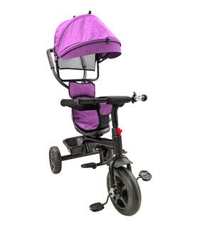 Triciclo 3en1 para Bebés y Niños 1-5 Años Timbre Toldo Canasto