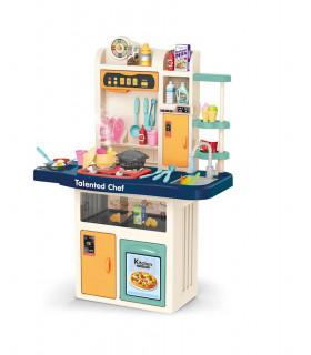 Cocina de Juguete para niños con 74 pzs Vapor Agua Sonido Luz