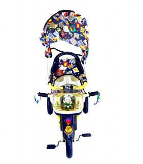 Triciclo Bastón Toldo Dirigible Plegable Conejito Musical Canastilla