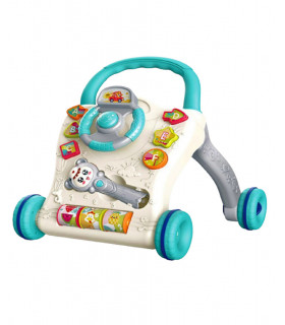 Caminador Andador para Bebés de Tablero Juegos Musical Luz Sonajero