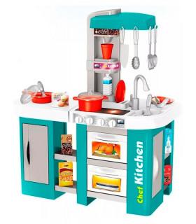 Cocinita Cocina Infantil Horno Agua Vapor Luz Sonido 53 Pzs