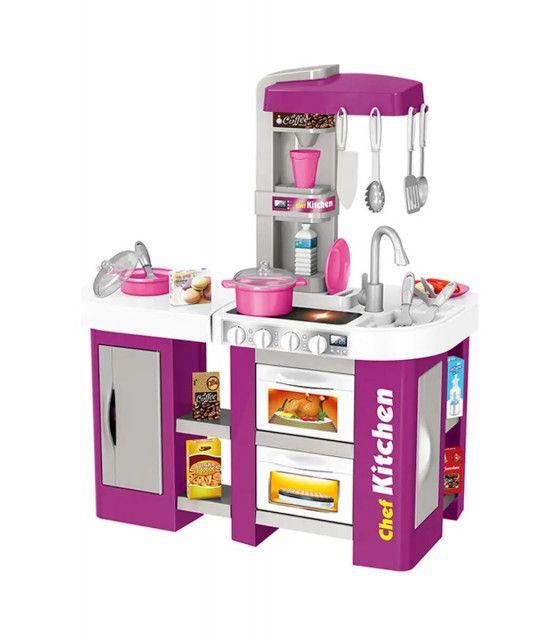 Cocinita Cocina Infantil Luz Y Sonido 53 Pzs Alto 72 Cm