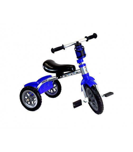 Triciclo Metalico Infantil Cantimplora Llantas de Goma Canasto
