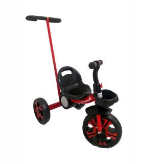 Triciclo Infantil con Baston Dirigible Esfera Musical y Luz Canastos