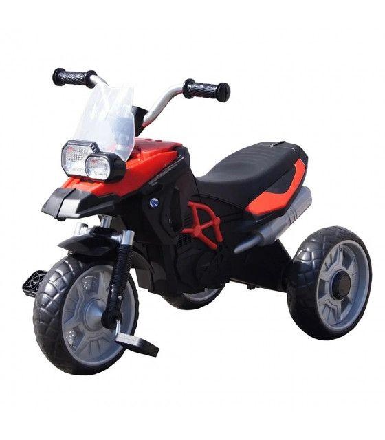 Triciclo Moto para Niños de Pedales con Luz Frontal